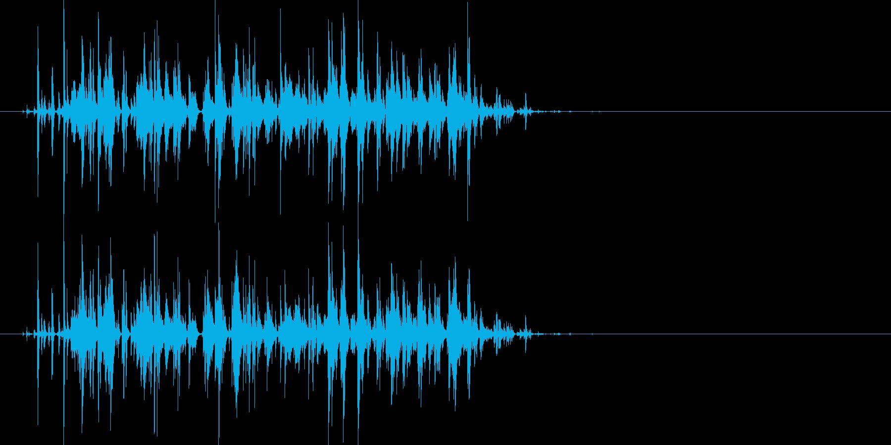 じゃらじゃら…大きめの鈴の音の再生済みの波形