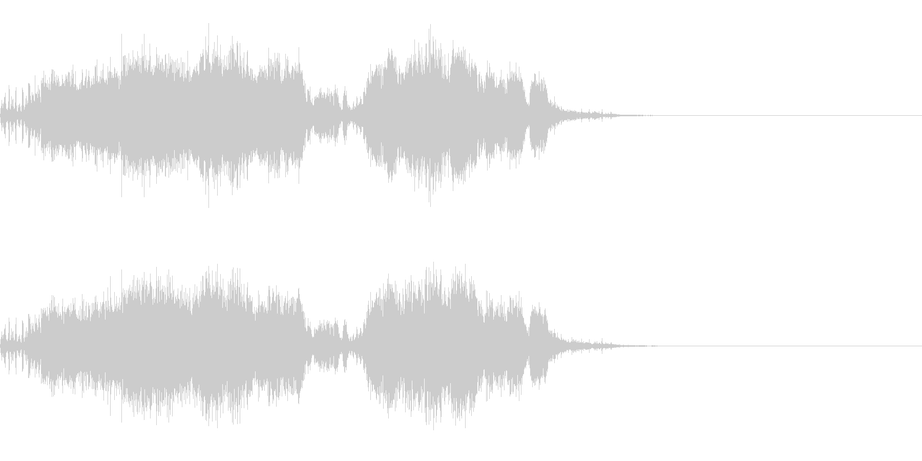 スパーク音-34の未再生の波形