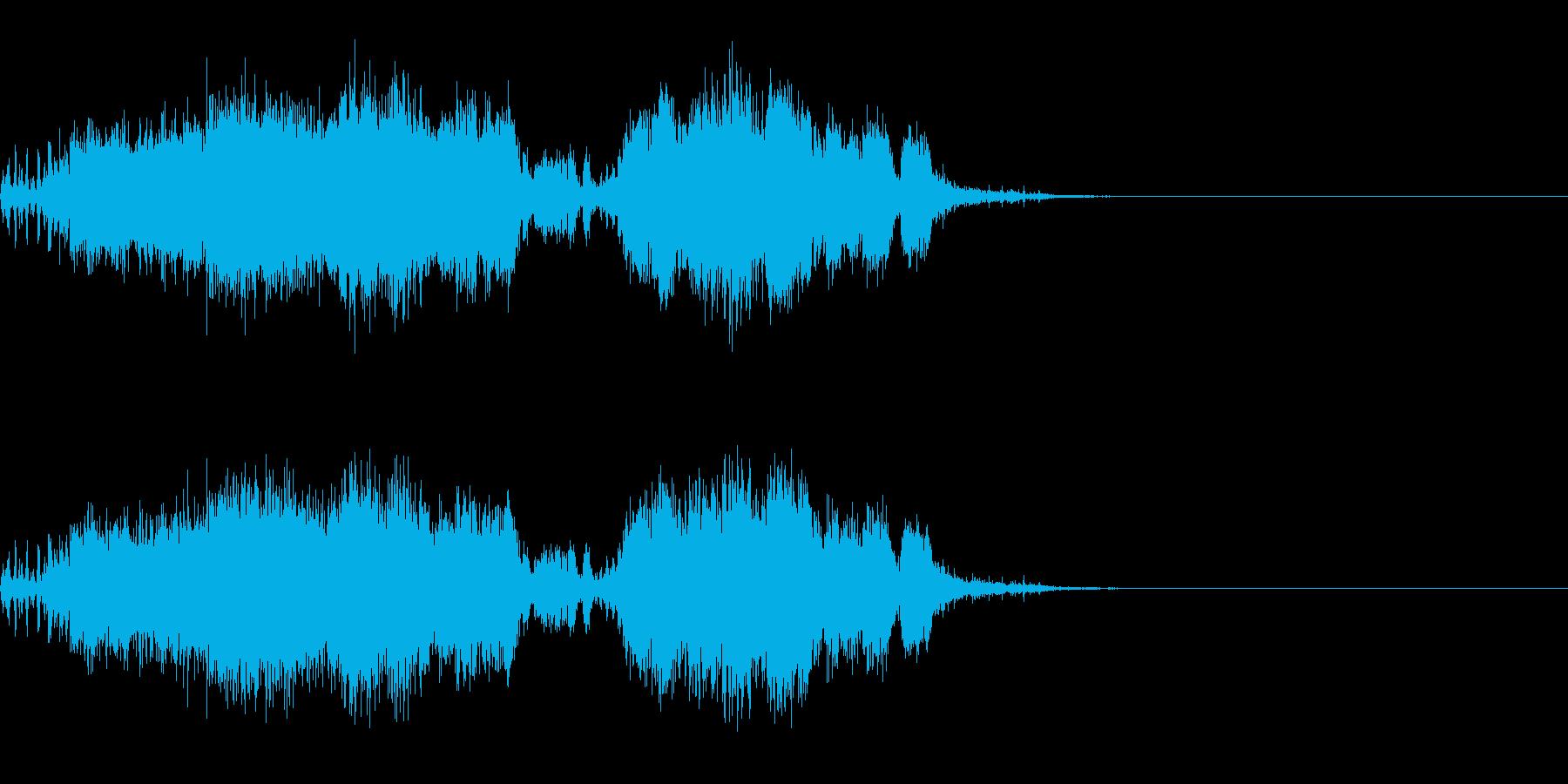 スパーク音-34の再生済みの波形