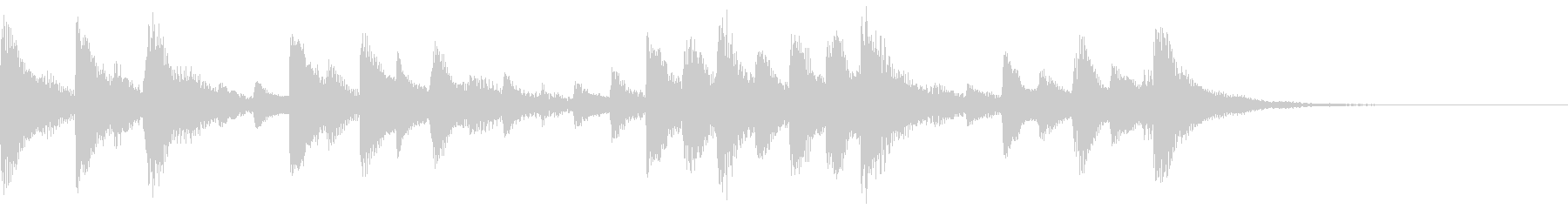 ハープによる優しいジングルの未再生の波形