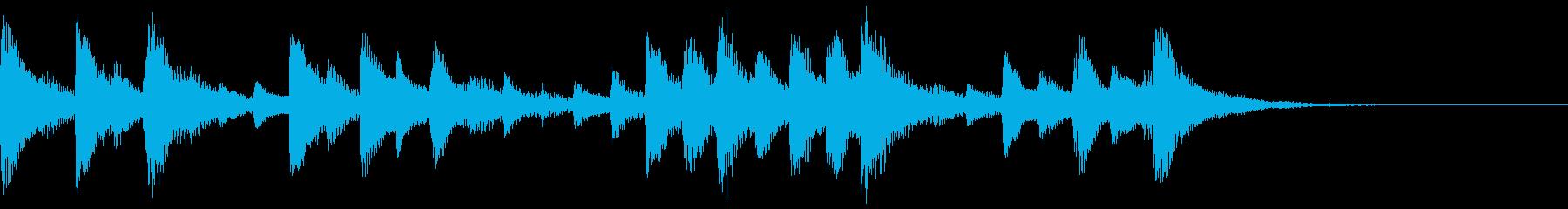 ハープによる優しいジングルの再生済みの波形