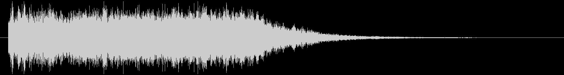 シンセ音メインの場面転換ジングルの未再生の波形