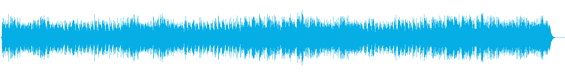 スローテンポのメルヘンなワルツの再生済みの波形