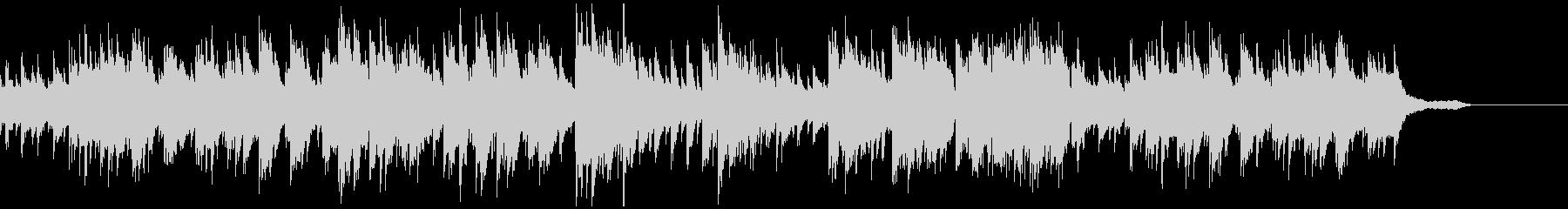 神秘的なオルゴールとピアノのワルツの未再生の波形