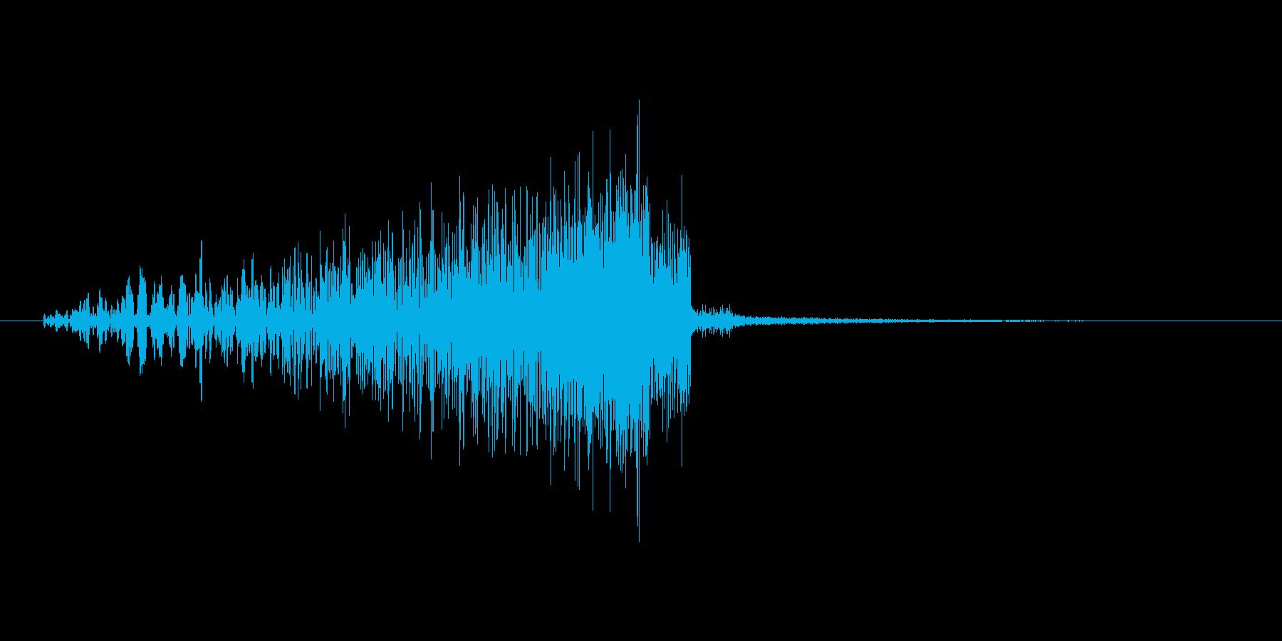 リバース音の再生済みの波形