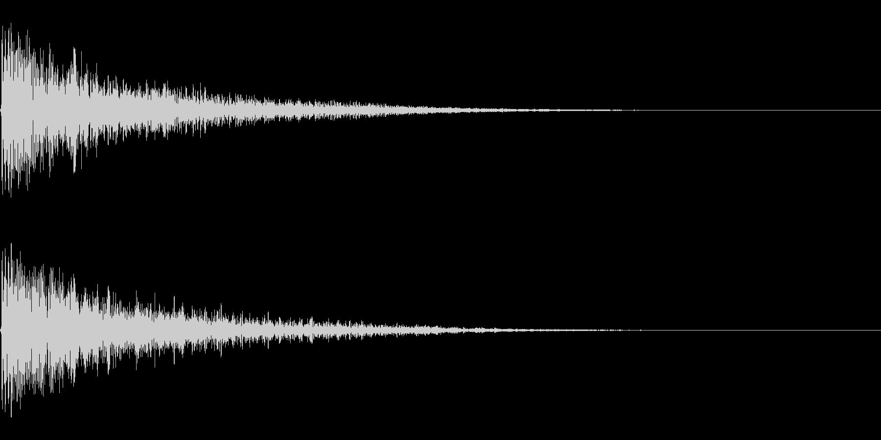ドロン ボワン 忍者が煙玉で消える音の未再生の波形