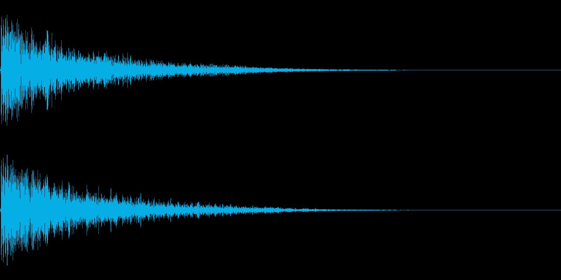ドロン ボワン 忍者が煙玉で消える音の再生済みの波形