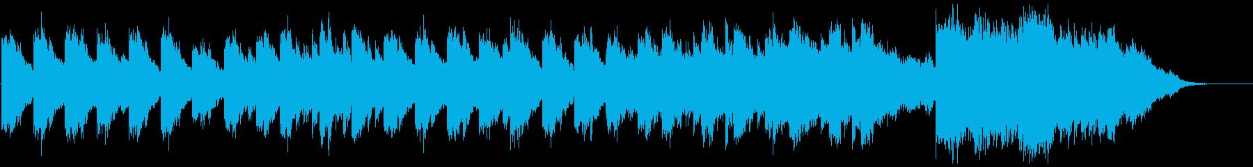 特徴的なピアノのフィルムスコア風楽曲の再生済みの波形