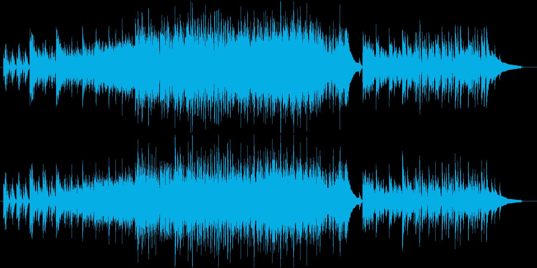 夕焼けイメージのカッコイイジャズの再生済みの波形