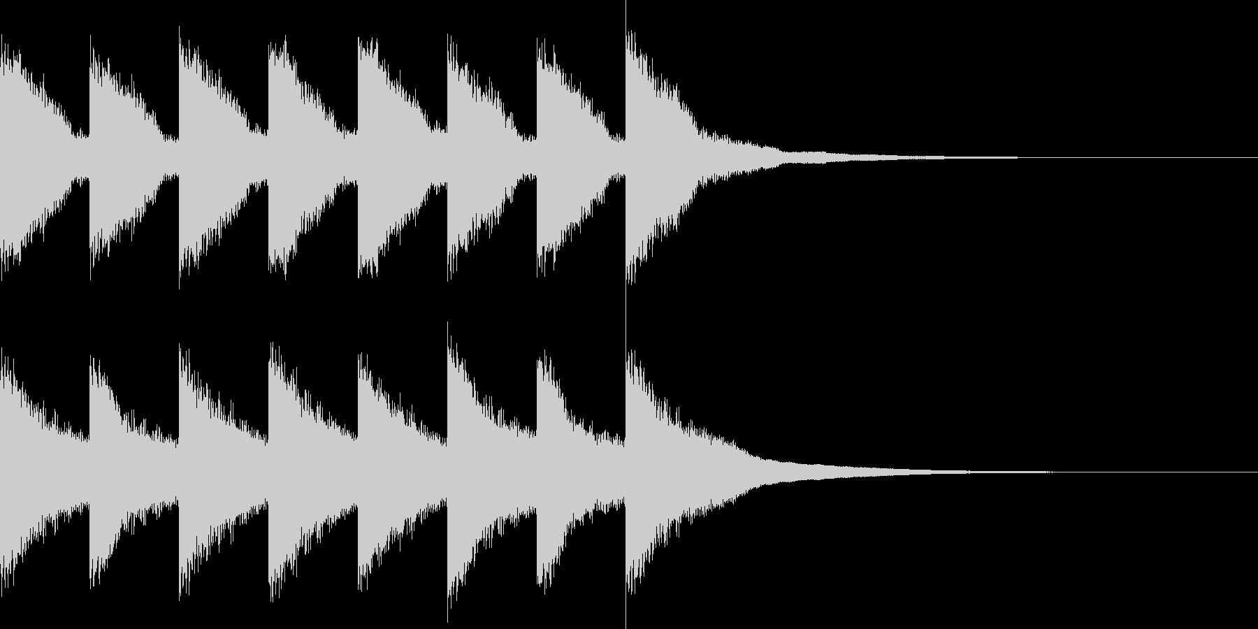 カンカン..。踏切A(高・短)の未再生の波形