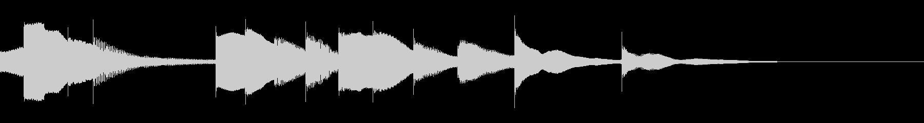 ジングル用オルゴール楽曲05-2の未再生の波形