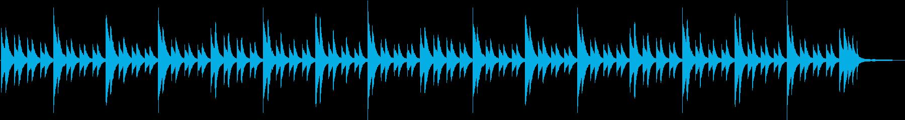 ピアノの困惑したようなテイストの曲の再生済みの波形