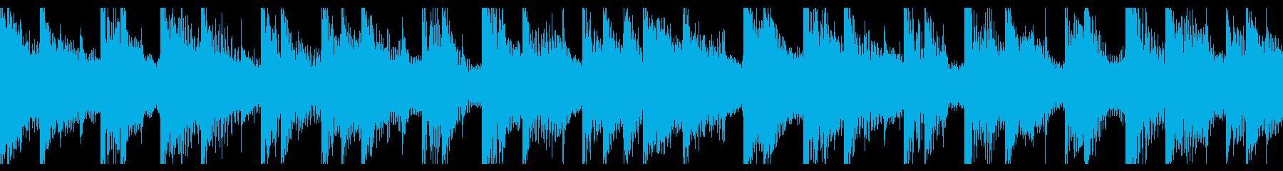 タイトル画面用の軽快なループ曲の再生済みの波形