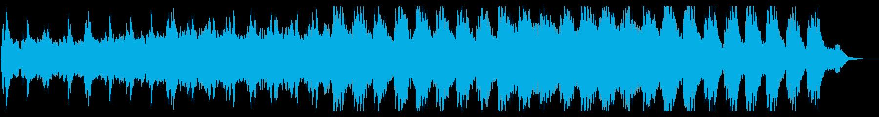 シンプルで幸福感のあるBGMの再生済みの波形