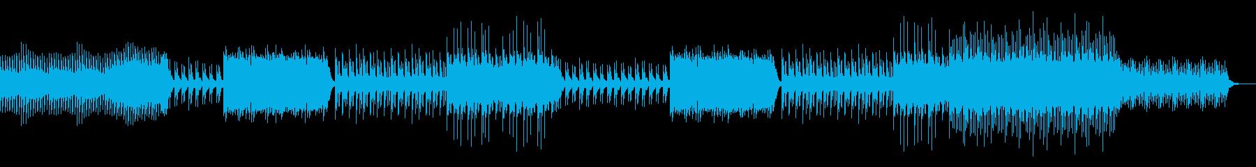 キラキラしたピアノが美しいBGMの再生済みの波形