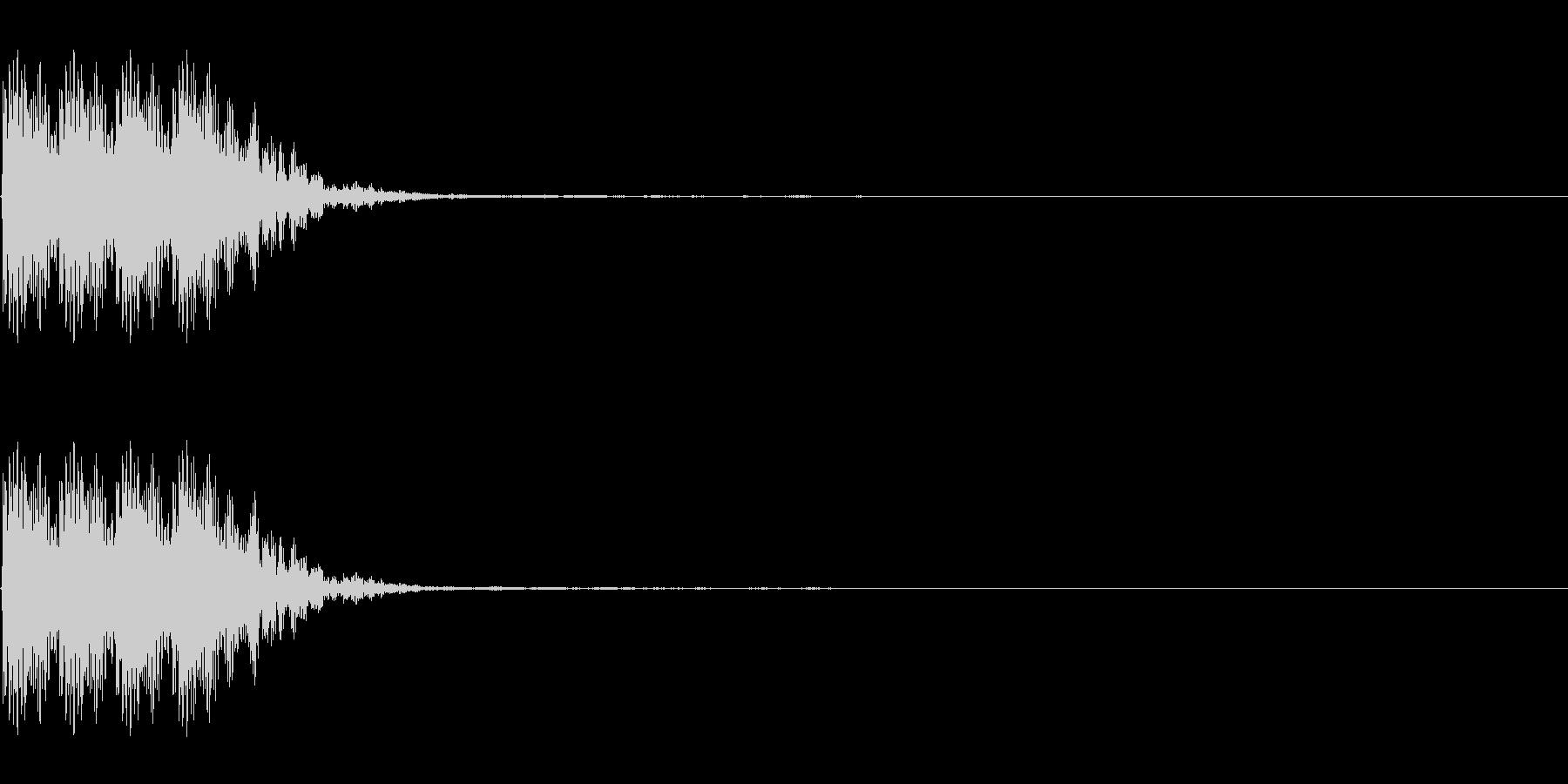 連打 チョップ ツッコミ キック の未再生の波形
