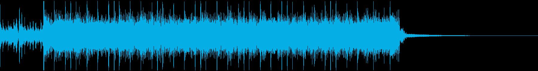 シンプルなメタルリフジングルの再生済みの波形