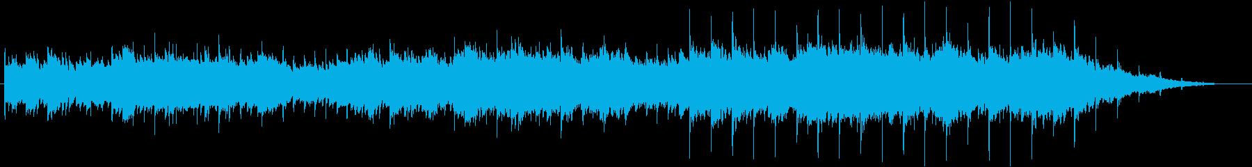 悲しい雰囲気のシンプルなギターアルペジオの再生済みの波形