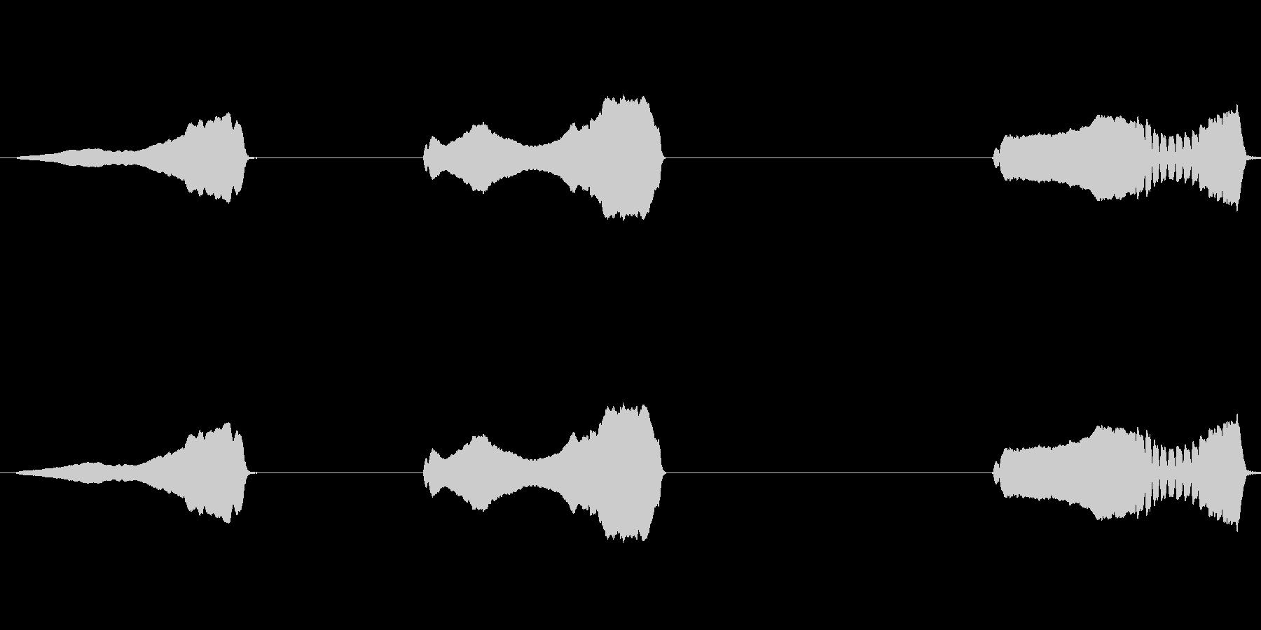 クレステッドラーク:3つの呼び出し...の未再生の波形