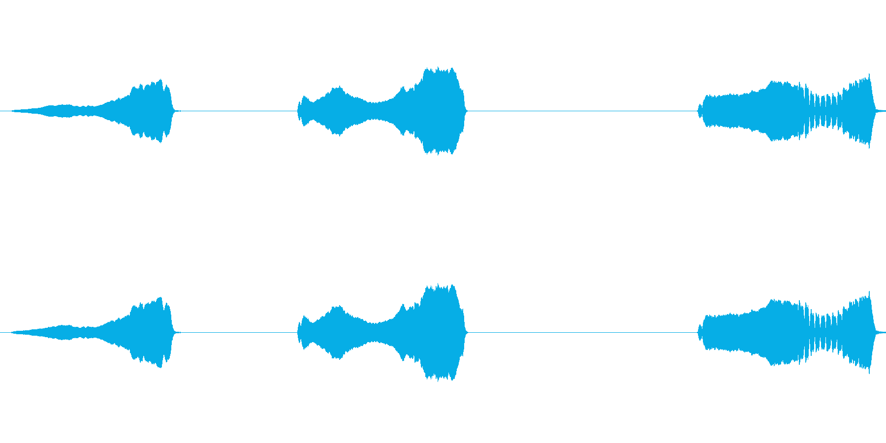 クレステッドラーク:3つの呼び出し...の再生済みの波形