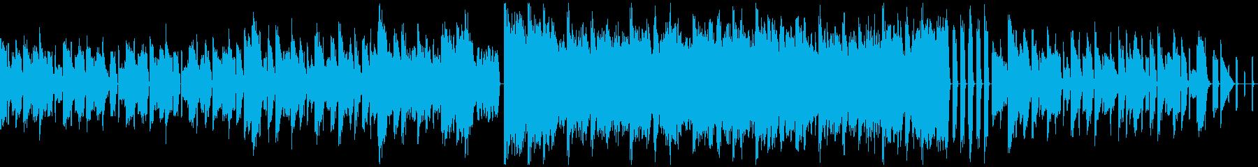 ローファイ質感ハイスピードテクノの再生済みの波形