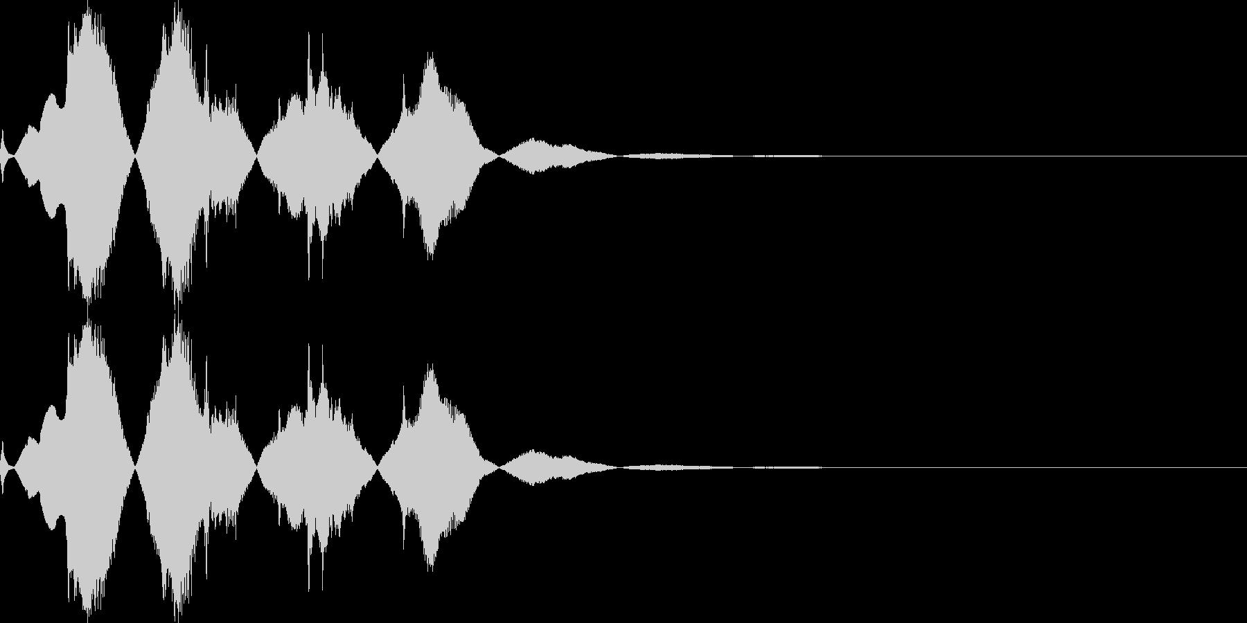 不気味な起動音1の未再生の波形