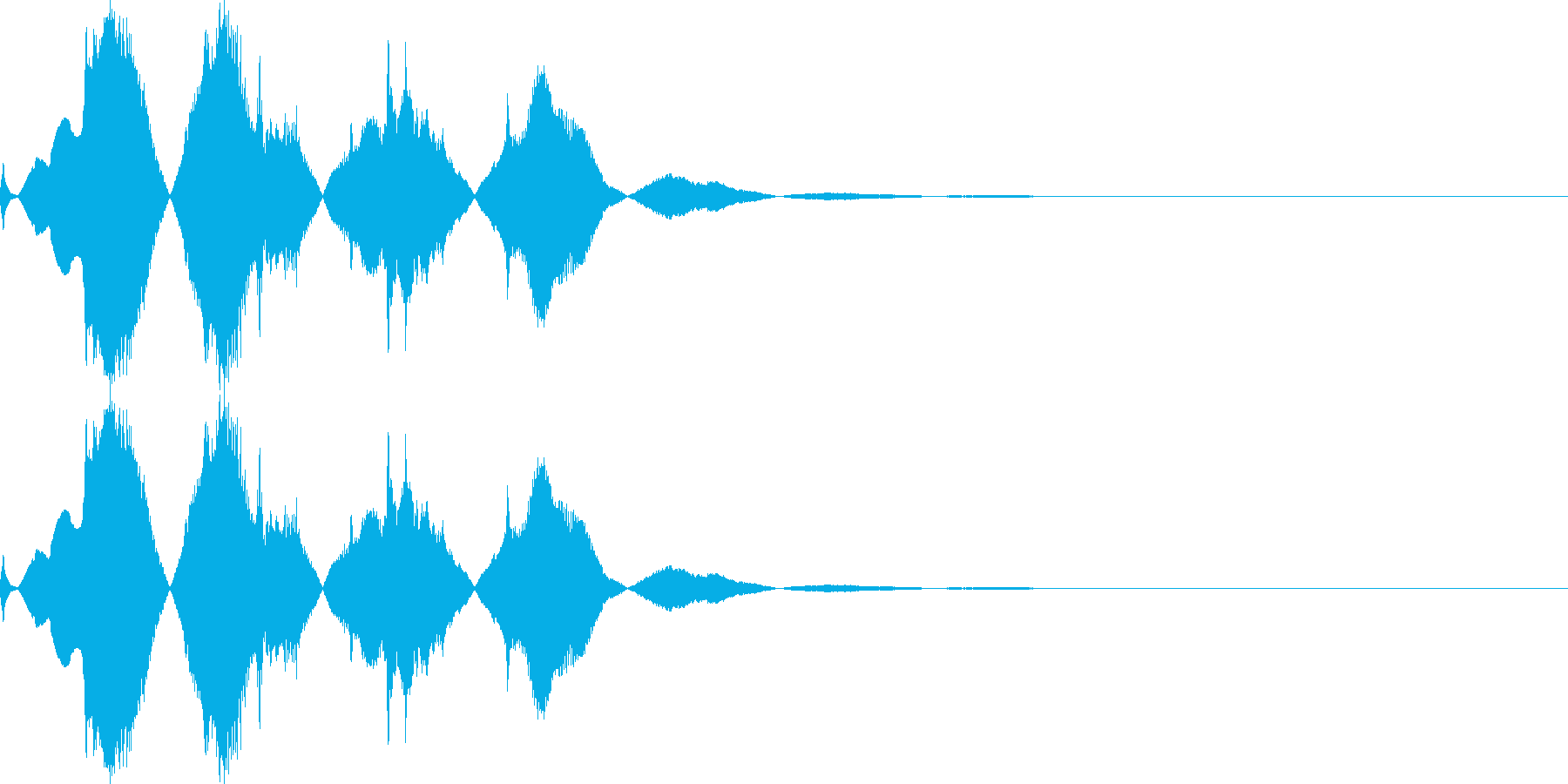 不気味な起動音1の再生済みの波形