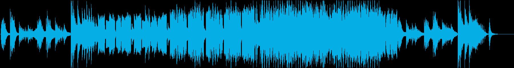 フルート主旋律の弦とピアノのバラードの再生済みの波形