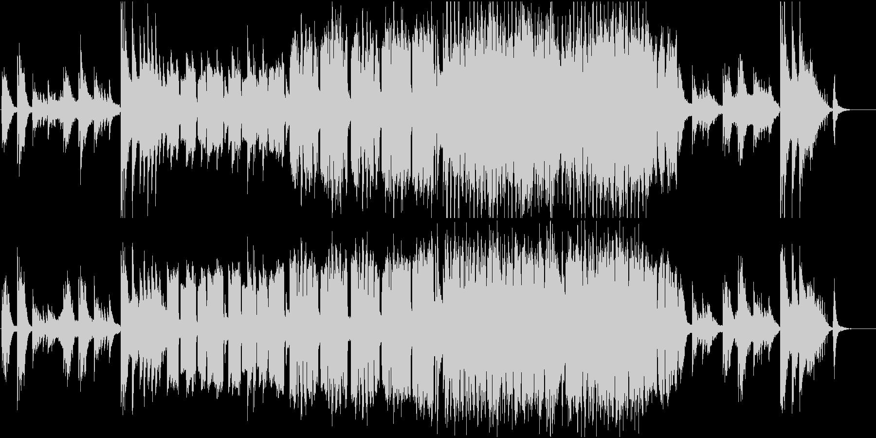 フルート主旋律の弦とピアノのバラードの未再生の波形