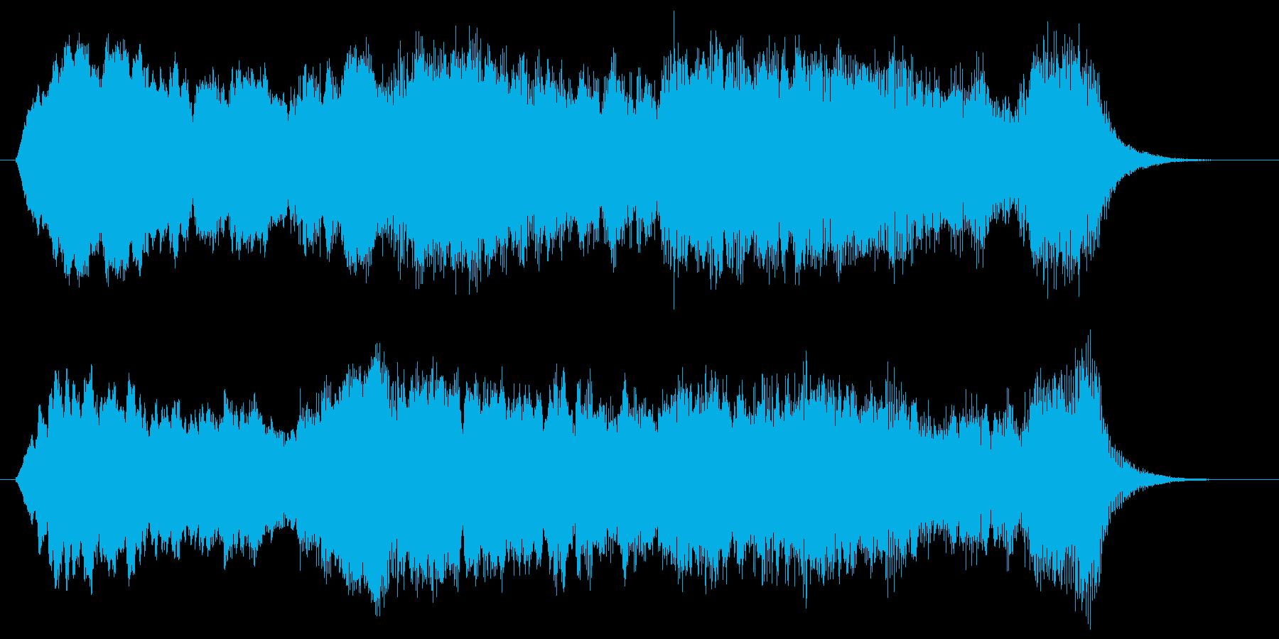 幻想的で幽玄なヒーリング曲の再生済みの波形