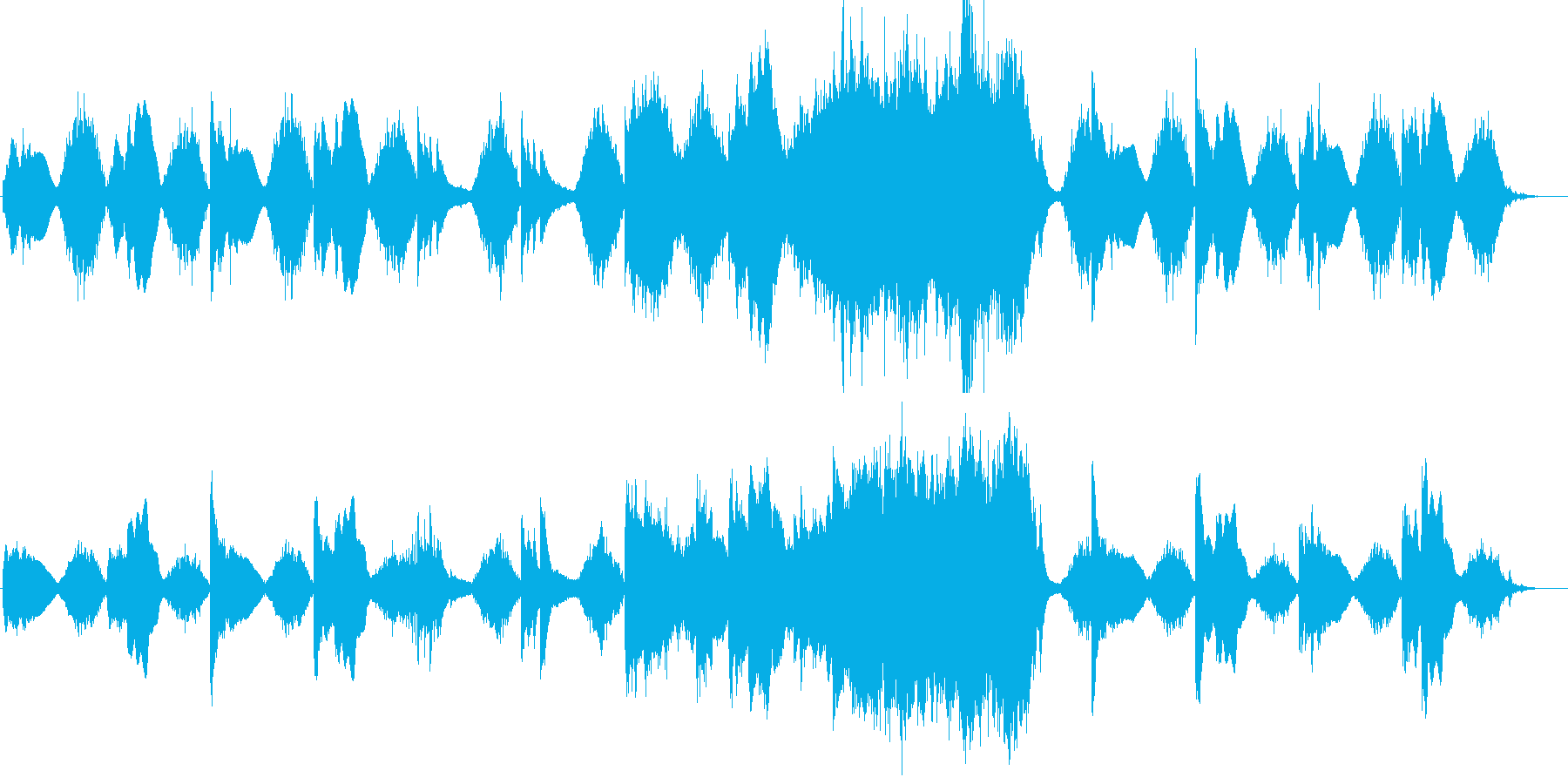 穏やかな雰囲気の室内楽編成曲の再生済みの波形