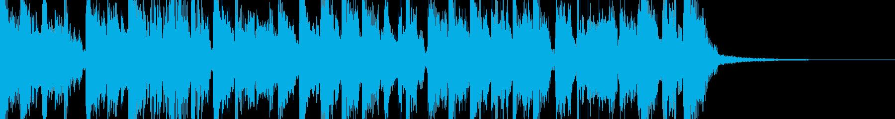 渋めで大人っぽいJazzジングルの再生済みの波形