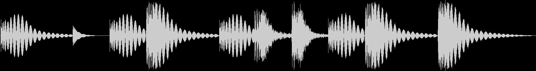 シンプルでコミカルなドラムのジングルの未再生の波形