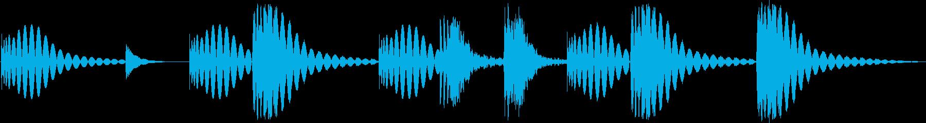 シンプルでコミカルなドラムのジングルの再生済みの波形