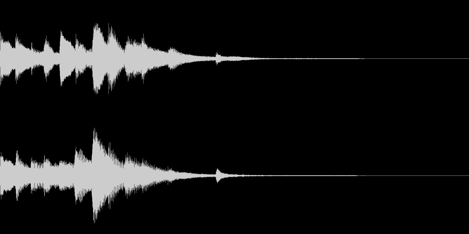 おしゃれなピアノのジングル26の未再生の波形