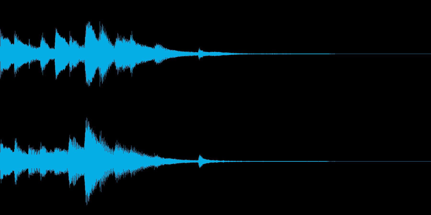 おしゃれなピアノのジングル26の再生済みの波形