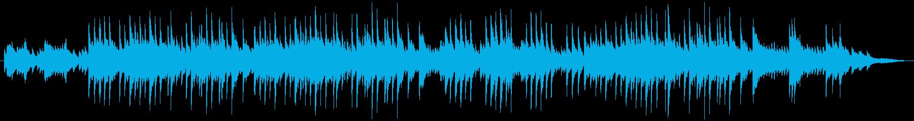 ピアノによる、切なく穏やかなバラードの再生済みの波形