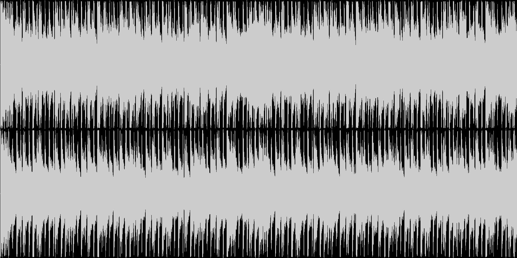 楽しい雰囲気のBGM(ループ)の未再生の波形