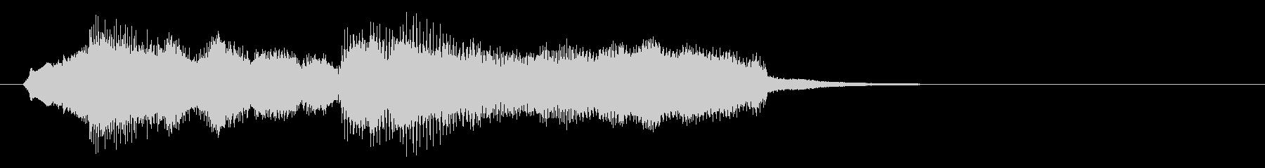 生演奏バイオリンのセクシーなジングルの未再生の波形