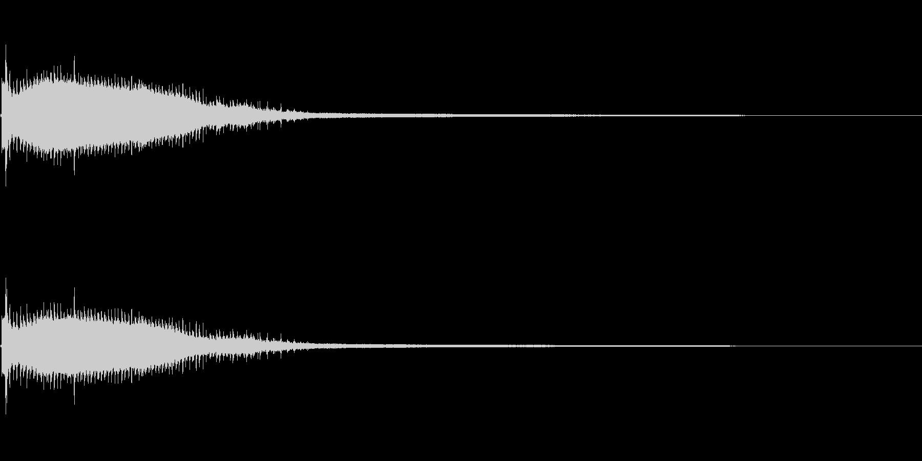 気の抜けたパーカッションのフレーズ 1Bの未再生の波形