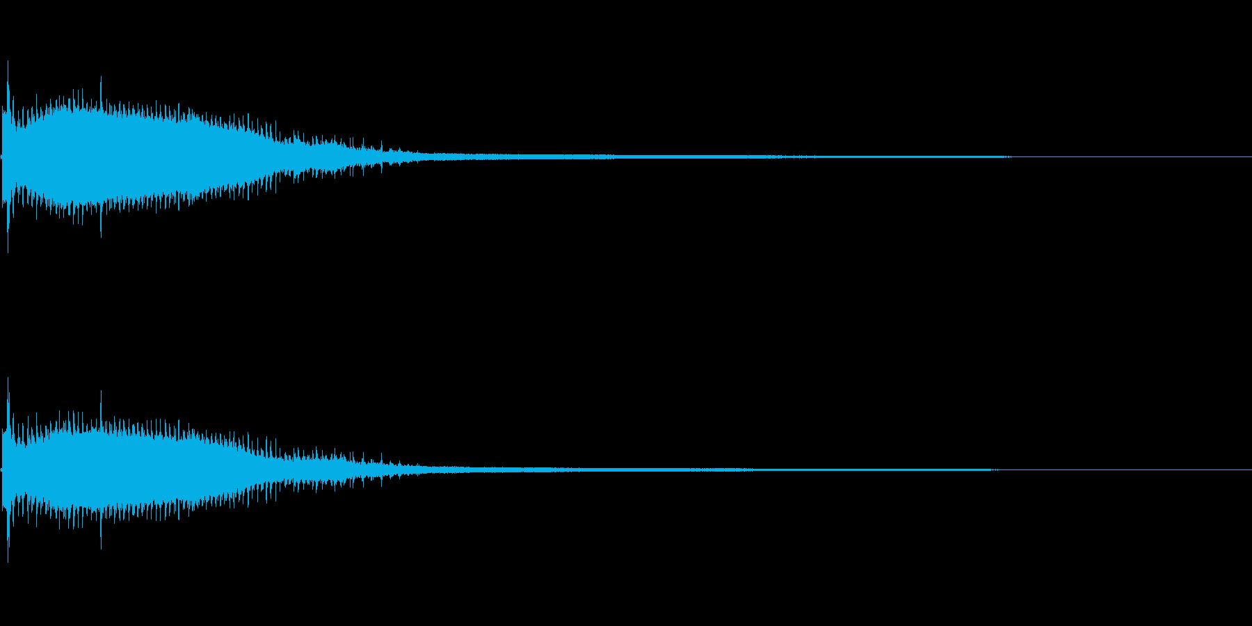気の抜けたパーカッションのフレーズ 1Bの再生済みの波形