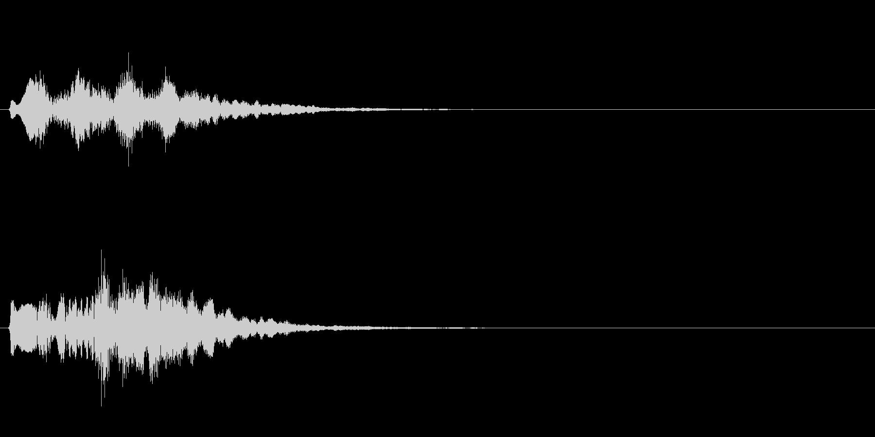テロップの音・決定音・タララロラーンの未再生の波形