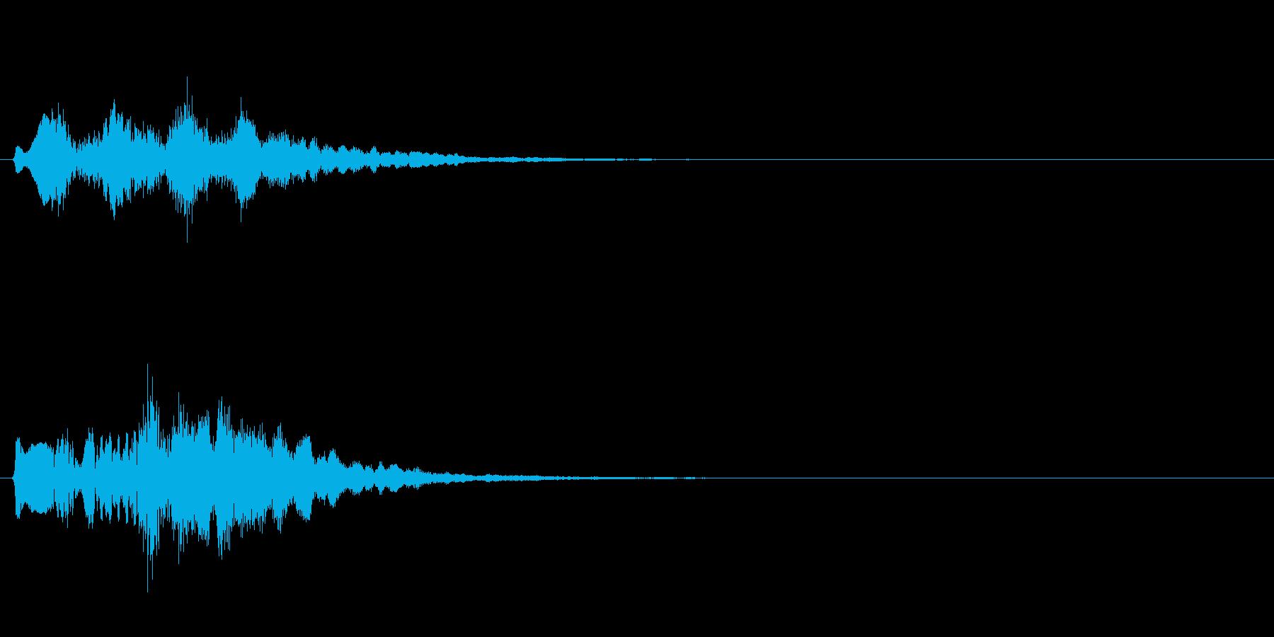 テロップの音・決定音・タララロラーンの再生済みの波形