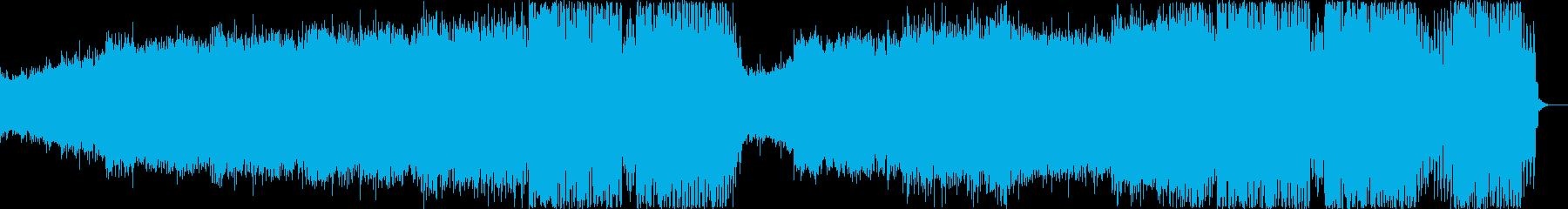 疾走感のある盛り上がれるEDMの再生済みの波形