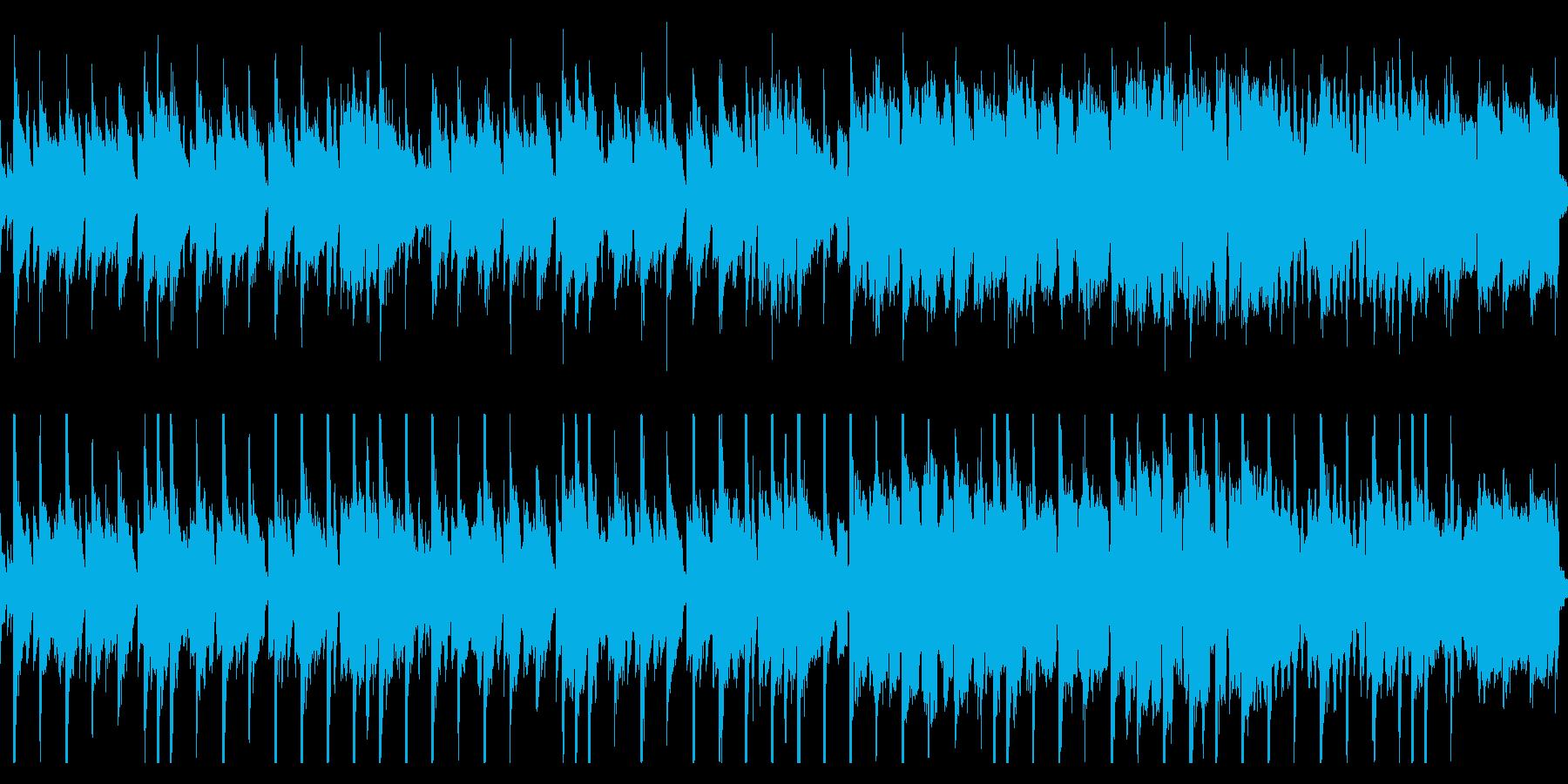 定番の穏やかな和風BGMループの再生済みの波形