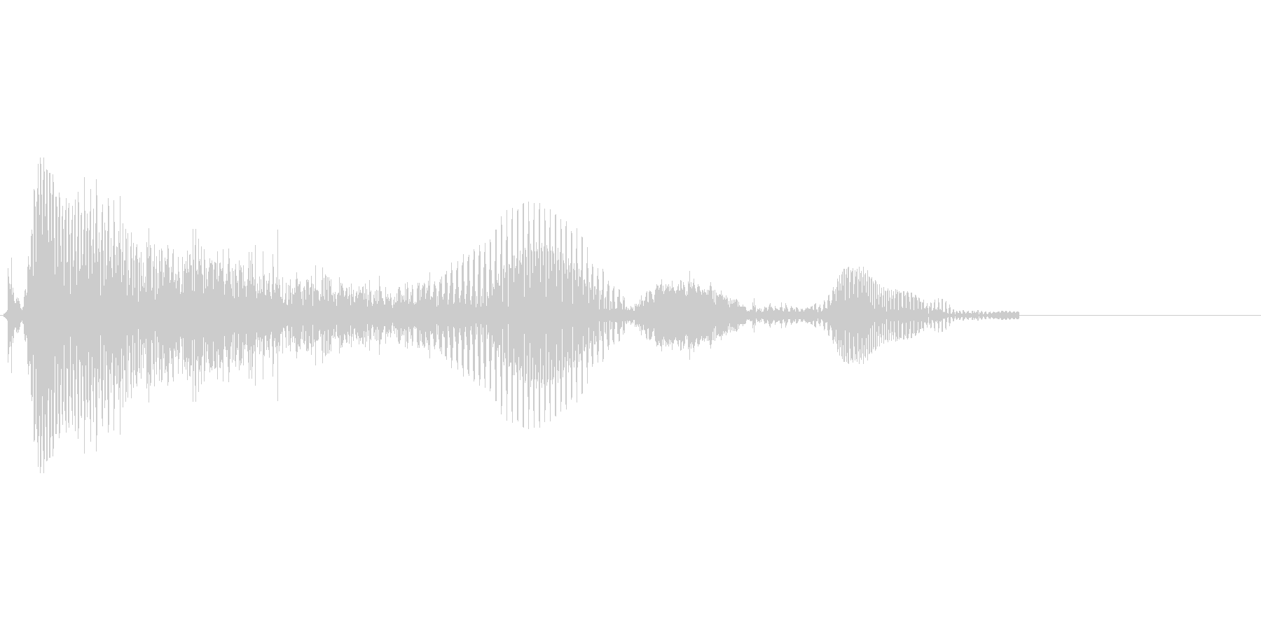 「うふふ♪」の未再生の波形