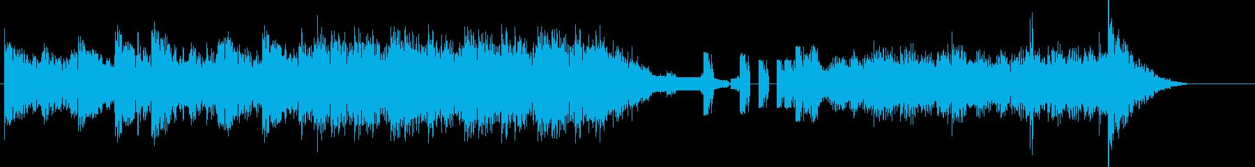 無機質かつ雄々しいBGMの再生済みの波形