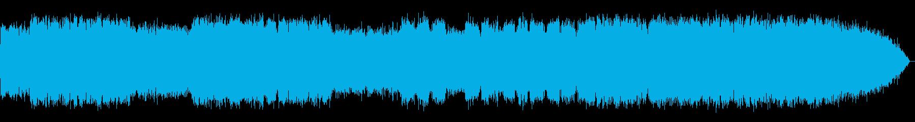 哀愁のある笛のメロディーの再生済みの波形