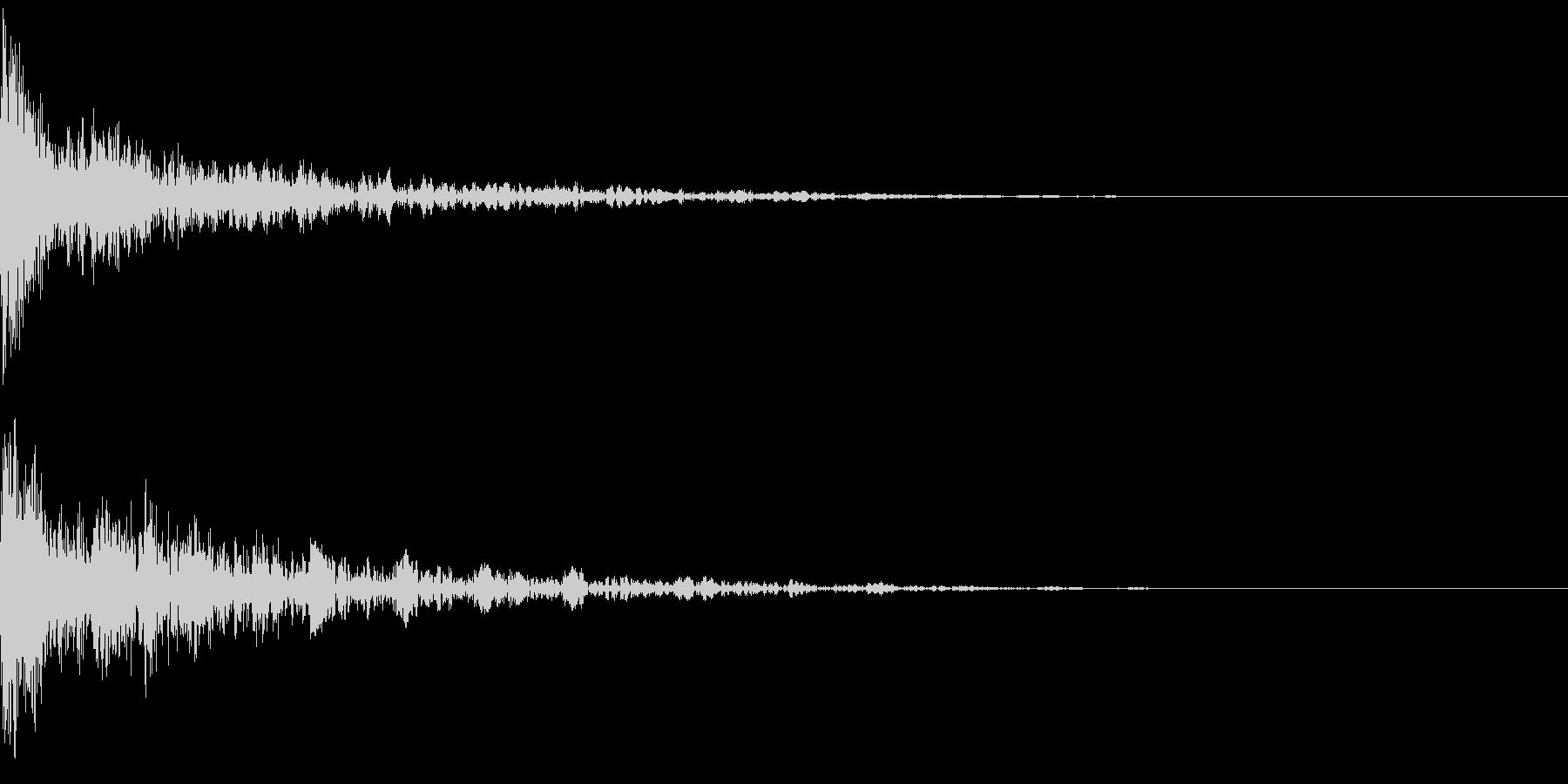 ドーン-45-2(インパクト音)の未再生の波形