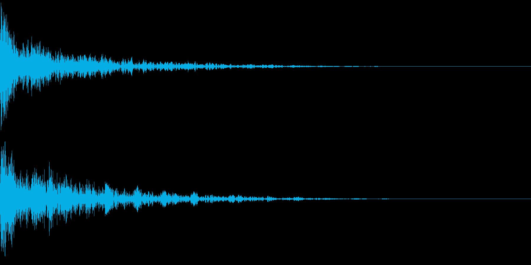 ドーン-45-2(インパクト音)の再生済みの波形